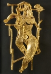 Sotilis Metamorfosi di Persefone, 2003, bronzo dorato, 46x26cm