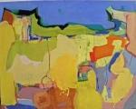 Spazio Tadini-SpazioinStabile- Soldi D'artista-Il dogma del debito-Pislaru,untitled,2011,tecnica mista su tela,40x50cm
