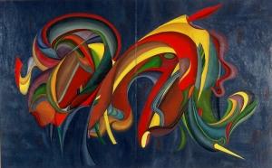 Spazio Tadini, Goffredo Radicati - danza 160x100 1999