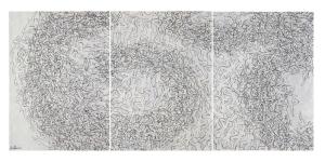 Trittico di Laura Zeni alla mostra Indian Pattern a Spazio Tadini