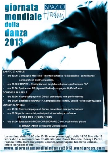 Giornata Mondiale della Danza 2013 a Spazio Tadini spettacoli