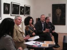 Incontro il Corpo Svelato- nella foto Giancarlo Ricci, psicoanalista, Teresa Carreno, Claudio Argentiero e Givoanni Sesia