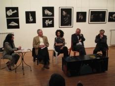Incontro il Corpo Svelato- nella foto Melina Scalise, Giancarlo Ricci, psicoanalista, Teresa Carreno, Claudio Argentiero e Givoanni Sesia