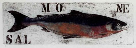 Dominguez - salmone - mostra Acquatica e Pescheria serigrafica