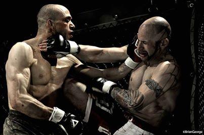 max capussela durante un combattimento
