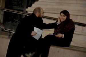 Pierpaolo Alioto durante un evento in Piazza Duomo, Milano