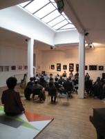 Salone - incontro pubblico mostra collettiva Archivio fotografico Italiano