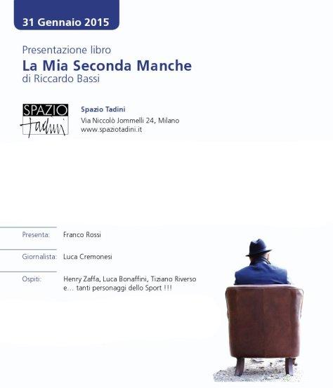 Invito presentazione libro La Mia Seconda Manche di Riccardo Bassi