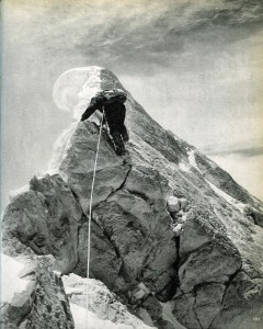 Karakoram The Ascent Of Gasherbrum IV - Walter Bonatti Leads The Last Few Metres To Gasherbrum IV Summit August 6, 1958