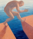 Marilisa Pizzorno Il salto-olio du tel cm 95x80 2013rid