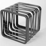 Qube MAST ELEMENTS esposto a Spazio Tadini per Expo 2015Un'unico pezzo di carbonio intagliato diventa un oggetto di arredo versatile da usare come tavolino o come seduta. Qube è un pezzo scultoreo che dona un tocco di originalità a qualsiasi ambiente.