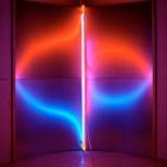 Pavel Korbicka, Svetlomet 1 5 / Proiettore 1 5, 2006, lamiera d'acciaio, neon, 201 x 1 70 x 71 cm;