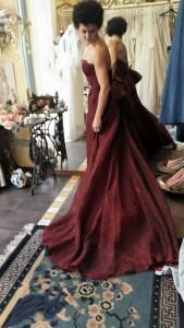 federicapaola capecchi indossa un abito di Rossella Cavioni Esprit Nouveau