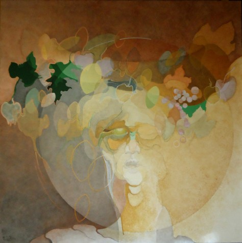 Marina-Carboni-Cesto-di-frutta-2015-acrilico-su-tela-100x100cm