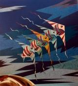Pesci Volanti,2006. 96x106cmrid