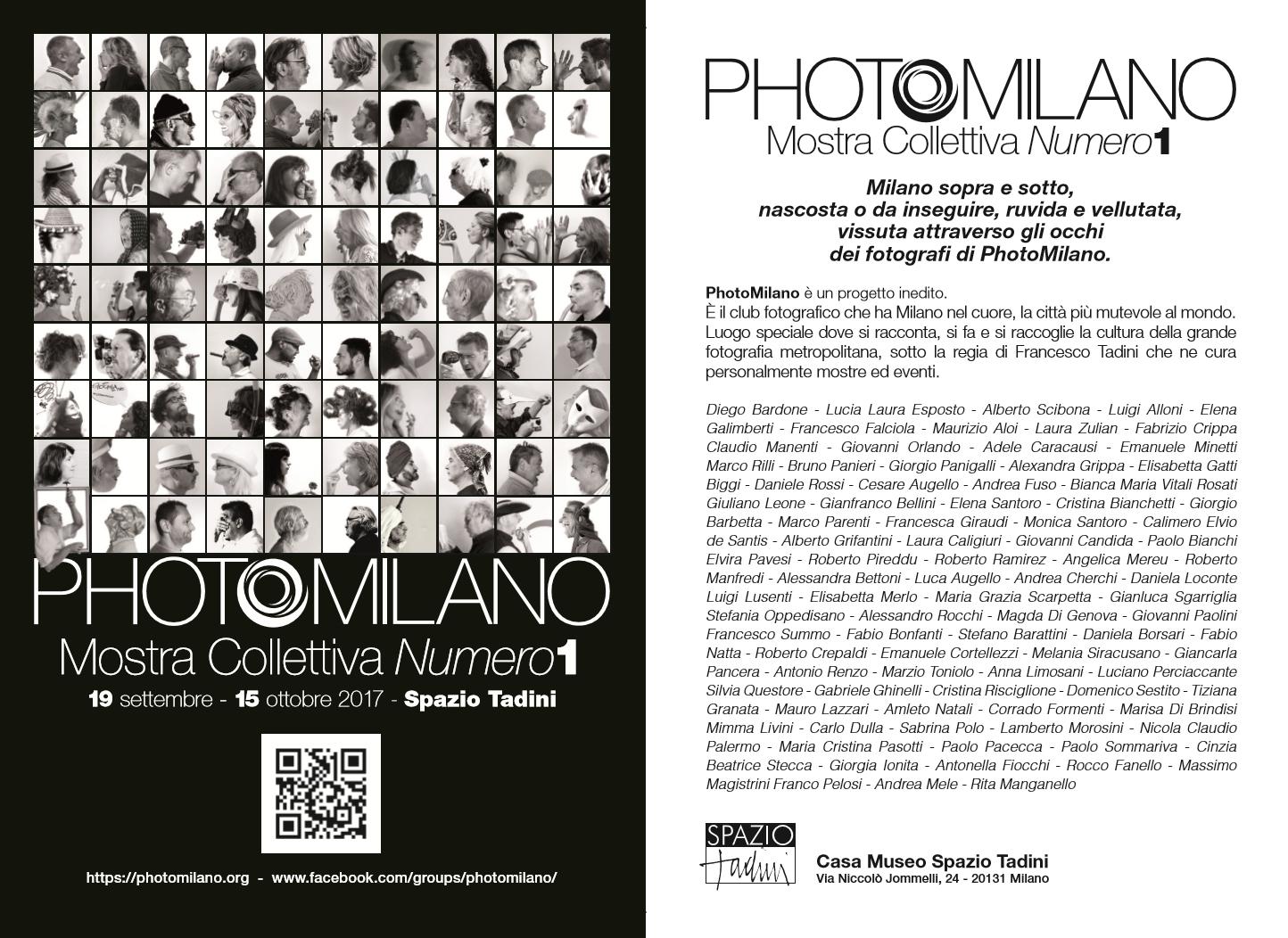 PhotoMilano mostra cartolina aperta