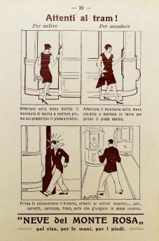 scendere dal tram
