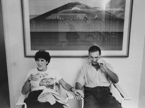 Emilio Tadini 014 con Antonia Tadini 1986