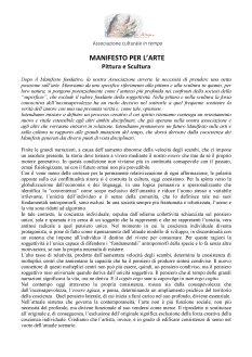Manifesto sull'arte Pittura e Scultura - ottobre 2017 (1)