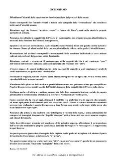 Manifesto sull'arte Pittura e Scultura - ottobre 2017 (2)