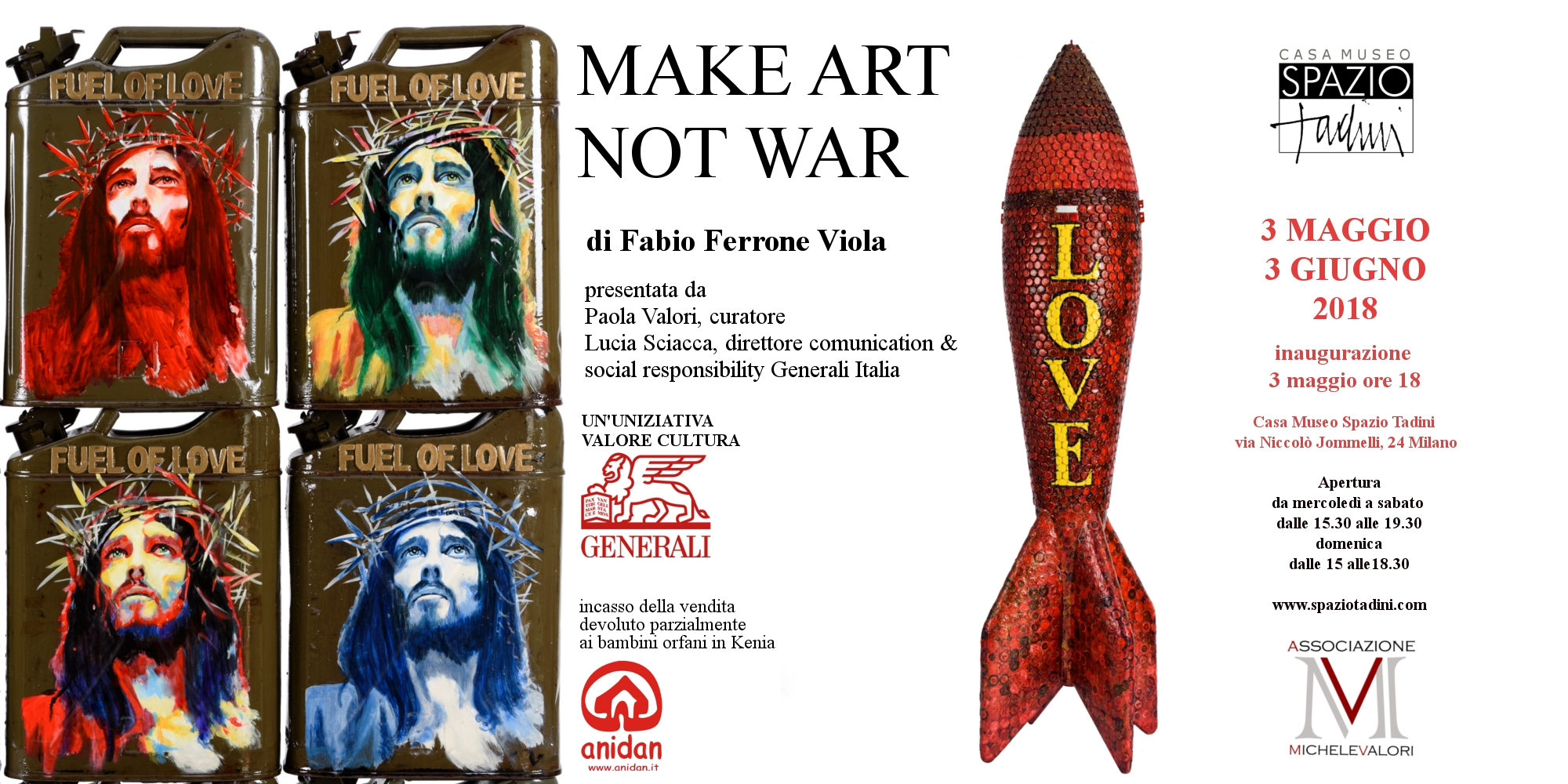 Make art not war : Fabio Ferrone Viola