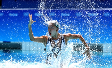 Rio 2016 Olympic games, August 2016, Syncronised swimming Photo by Alessandro Trovati, Pentaphoto, Mate Images