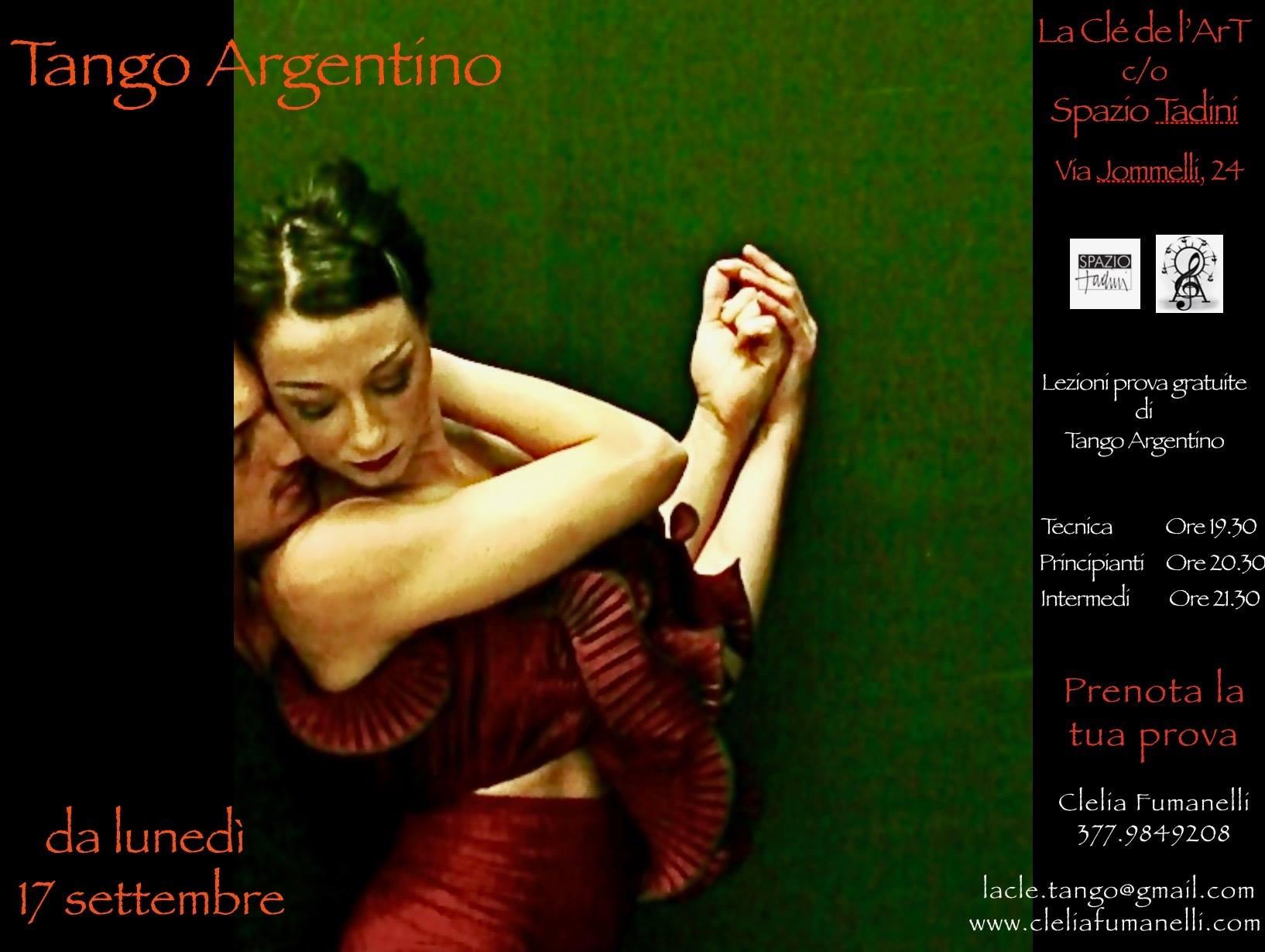 Corsi di tango Milano con la Clè de l'Art