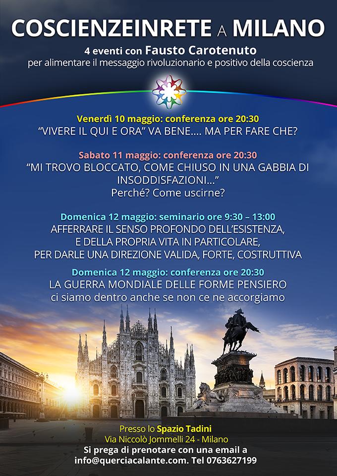 Fausto Carotenuto a Milano con 4 conferenze