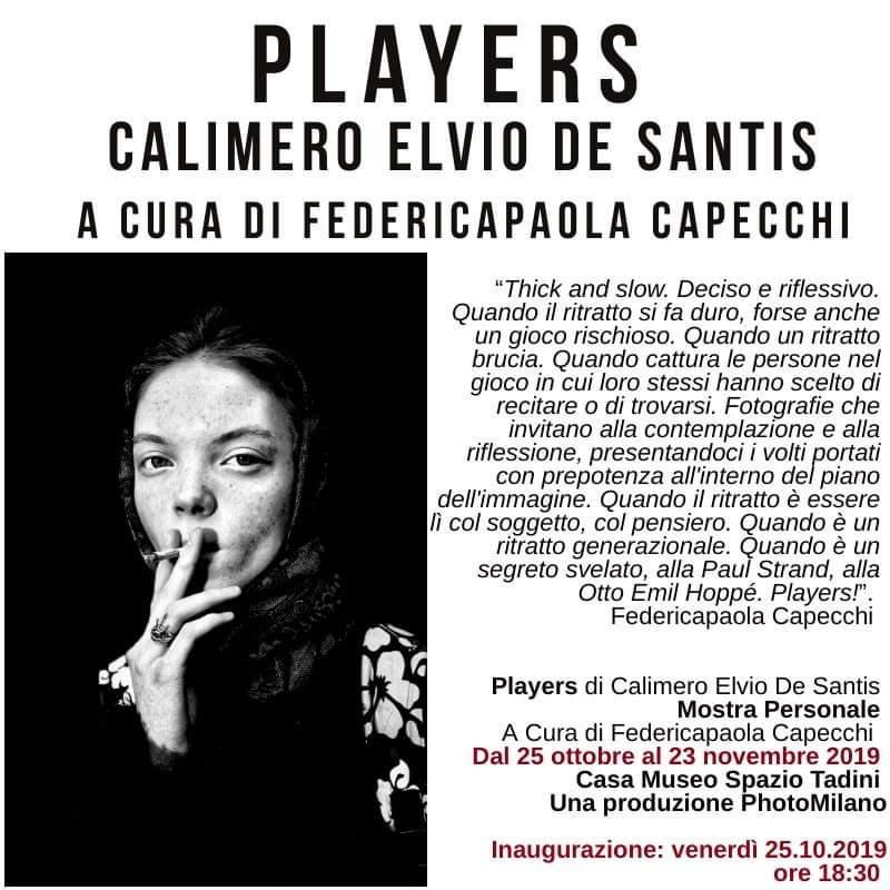 La fotografia di Calimero Elvio De Santis con Players