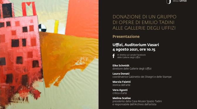 Le Gallerie degli Uffizi acquisiscono opere di Emilio Tadini